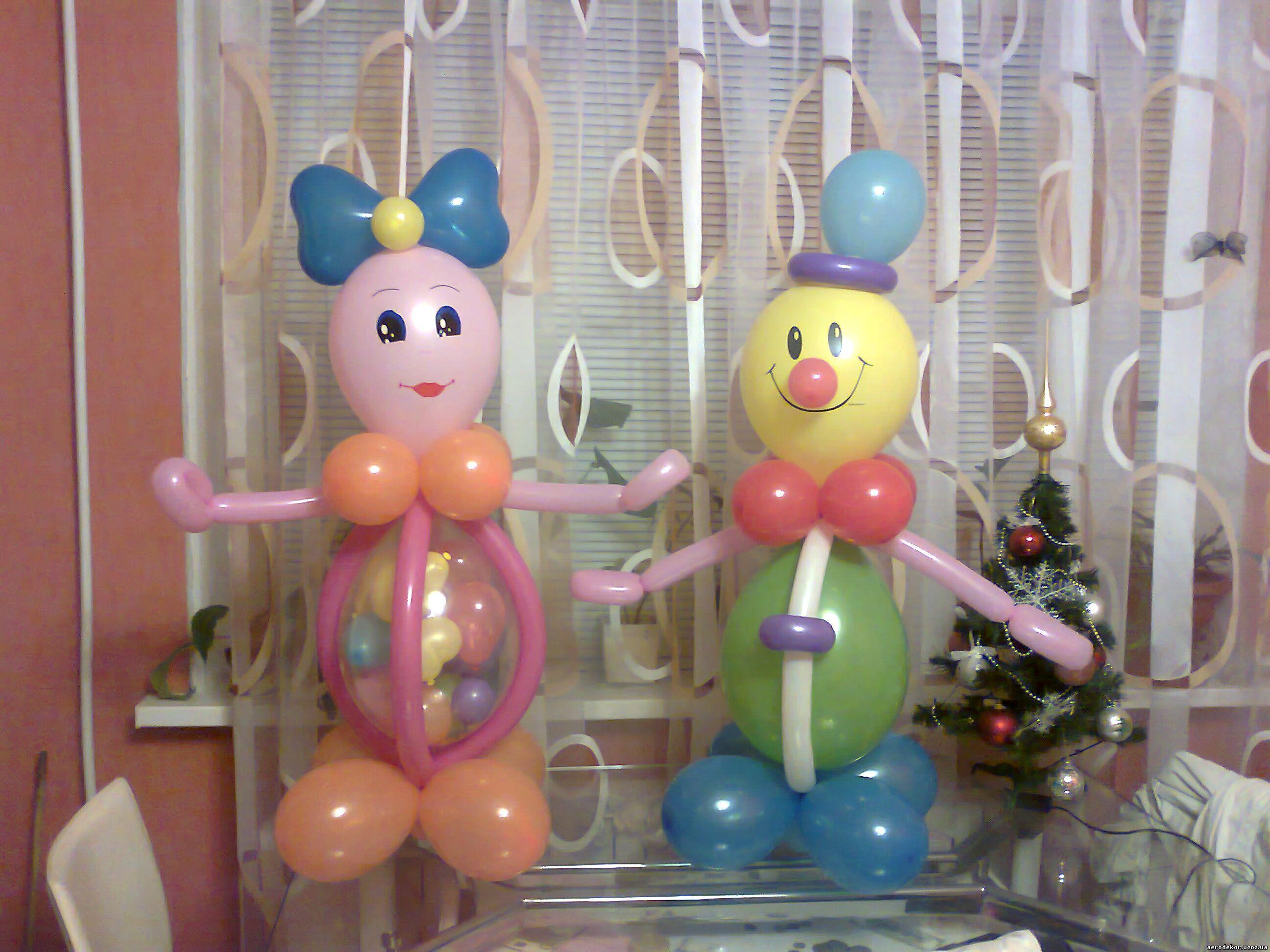 Куклы своими руками из шаров 30