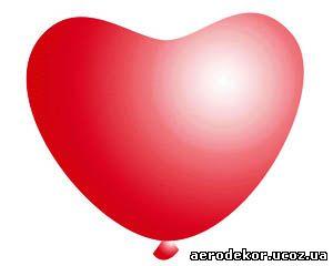 "Сердце 11"" красное кристалл"